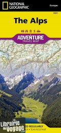 Editions National Geographic - Carte des Alpes