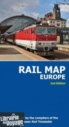 European Rail Timetable - Rail map Europe (Carte des lignes de trains d'Europe)
