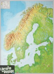 Georelief - Carte de la Scandinavie en relief