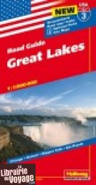 Hallwag - Carte régionale USA n°3 - Great Lakes