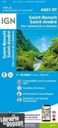 I.G.N - Carte au 1-25.000ème - TOP 25 - 4403 RT - Saint-Benoit - Saint-André - Parc National de la Réunion