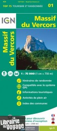 I.G.N - Collection Carte Top 75 - n°1 - Massif du Vercors