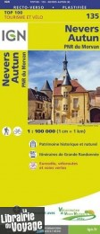 I.G.N Carte au 1-100.000ème - TOP 100 - n°135 - Nevers - Autun