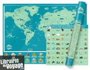 Luckies - Scratch Map - La carte du Monde à gratter - Animaux (Wild World)