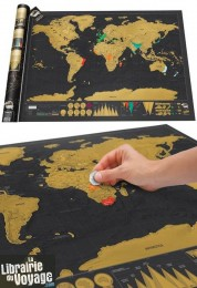 Luckies - Scratch Map - La carte du Monde à gratter - Édition deluxe - Très grand format