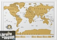 Luckies - Scratch Map - La carte du Monde à gratter - Edition originale - Encadrée