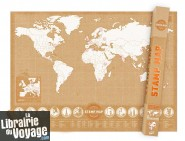 Luckies - Stamp Map - La Carte du Monde à tamponner