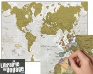 Maps international - Carte du Monde à gratter en français (scratch map)