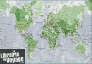 Maps international - Carte murale papier - Le Monde phosphorescent (Glow in the dark)