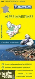 "Michelin - Carte ""Départements"" N°341 - Alpes-Maritimes"