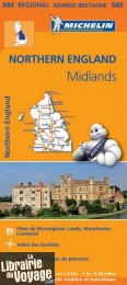 Michelin - Carte régionale n°502 - Northern England - The Midlands