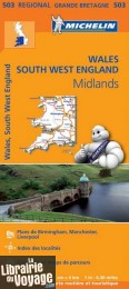 Michelin - Carte régionale n°503 - Wales - the Midlands - South West England