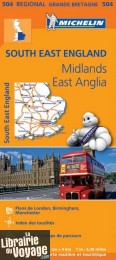 Michelin - Carte régionale n°504 - South East England - The Midlands - East Anglia