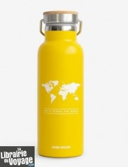 Miss Wood - Bouteille isotherme - World (couleur : jaune)