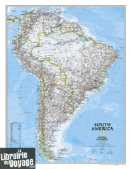 National Geographic - Carte murale plastifiée - Amérique du Sud