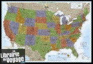 National Geographic - Carte murale plastifiée - USA politique