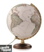 National Geographic - Globe terrestre lumineux style antique en français - 30 cm de diamètre (Collection Gold)