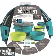 Sea to Summit - X-SET 31 comprenant une gamelle, 2 assiettes et 2 verres pliants