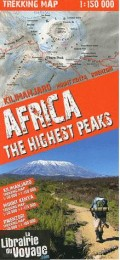 Terra Quest - Carte de Trekking - Africa -  The highest peaks