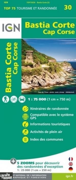 Carte Randonnee Corse Ign.I G N Carte Collection Top 75 N 30 Bastia Corte