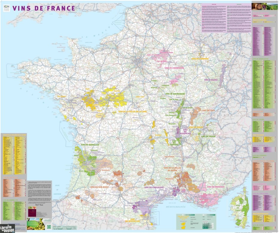 Carte Alsace Plastifiee.Ign Carte Murale Plastifiee Vins De France