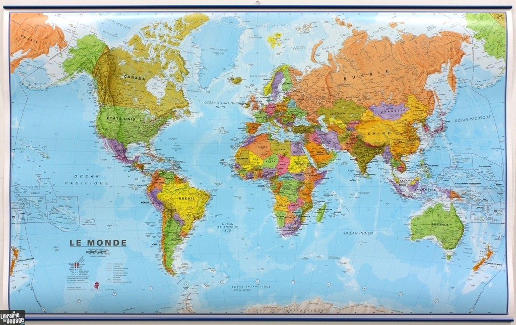 carte du monde murale grand format Maps international   Carte murale plastifiée   Le Monde (En
