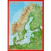 Georelief - Carte Postale en relief - La Scandinavie